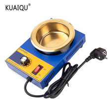 KUAIQU 220V 300W Solder Pot Tin Melting Furnace Adjustable Thermoregulation Soldering Desoldering Bath 200℃-480 ℃ 37/50/80/100mm