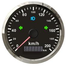 GPS-датчик скорости с красной подсветкой, 85 мм, 125 км/ч, 12 В/24 В