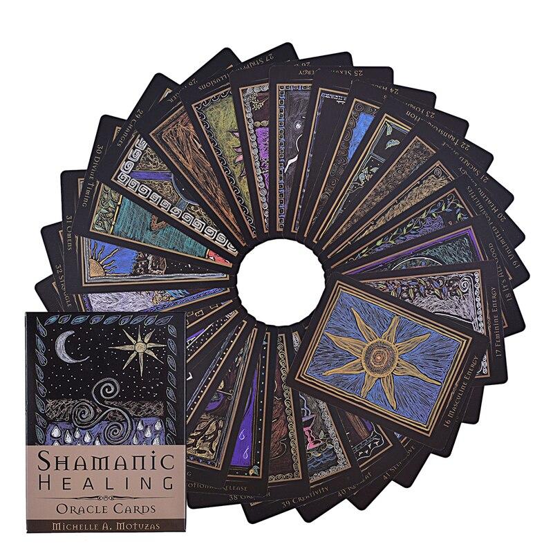 Шаманского исцеления Oracle карты Таро гадание палуба полная английская версия Настольные игры для взрослых и детей