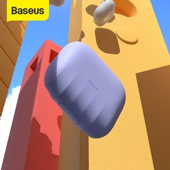 Baseus მოცურების საცობი Airpods Pro კორპუსის სილიკონის უსადენო Bluetooth ყურსასმენი Apple Airpods 3 Pro კორპუსის ყდისთვის