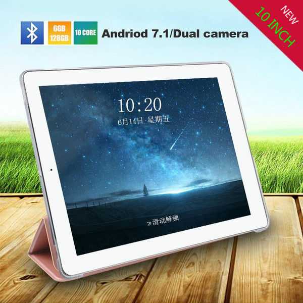 10 Inches New Original Andriod Tablet 7.1 Dual SIM 4G Phone Tablet PC 6G+128G ROM Tablet  GPS Phone Pad Tablet 10.1 Gift Tablet