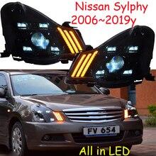 2006~ 2019y автомобиль bupmer головной свет для Nissan Sylphy фары sentra Bluebird автомобильные аксессуары все в светодиодный противотуманный фонарь для Sylphy фары