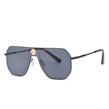 Vintage Square Metal Frame Gradient Sunglasses Women Men 2020 Retro Trendy Brand Designer Shades