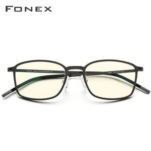 Image 3 - FONEX haute qualité TR90 Anti lumière bleue lunettes hommes lecture lunettes Protection lunettes de jeu ordinateur lunettes pour femmes AB01