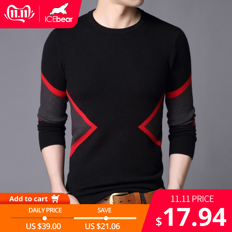 ICEbear 2019 Autumn New Male Sweater Casual Men's Pullover Brand Men's Clothing  1722