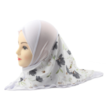 Muslim Girls Hijab Islamic Kids Scarf Shawls Double Layers Printed Flower Pattern Two Size for 2 to 12 years old Girls Wholesale