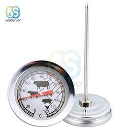 Termometr do grilla ze stali nierdzewnej termometr do mięs miernik temperatury grill jedzenie gotowanie mięso Gauge narzędzia kuchenne