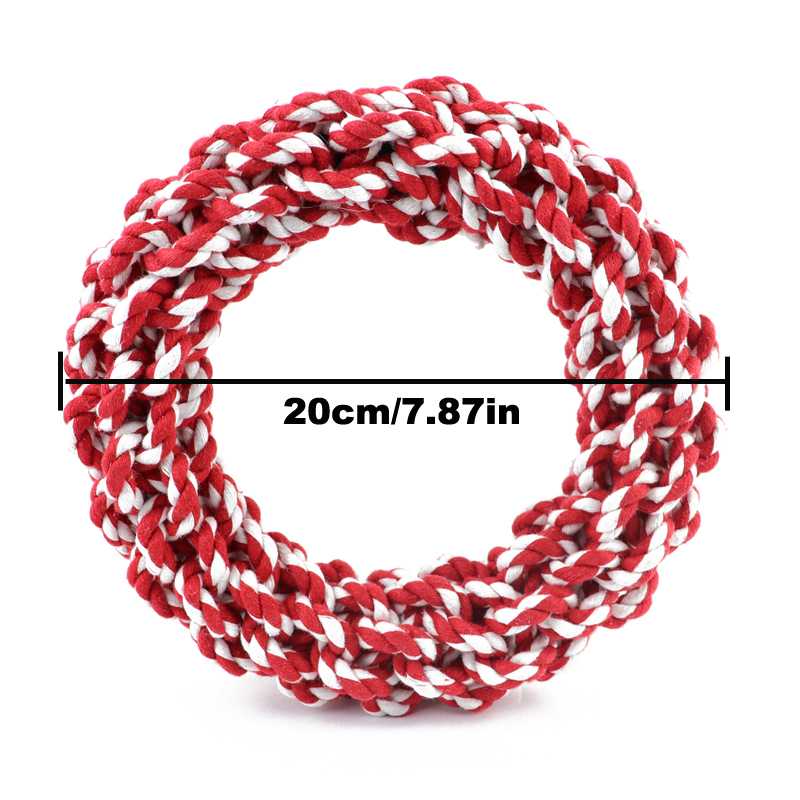 1PC Pet Toys Teeth Bite-Resistant Cotton Rope Rings Toys For Dog Medium Big and Large Dog Molar Toy Chew Toy