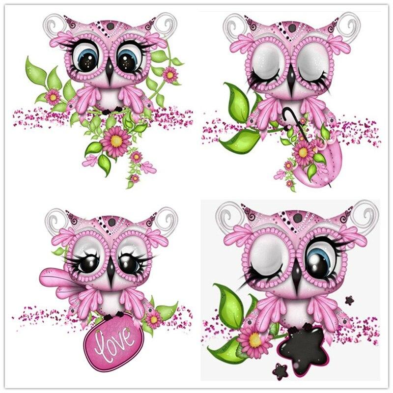 DIY Diamond Embroidery Animals Owl Diamond Painting Cartoon Cross Stitch Home Decoration Birthday Present  Christmas Gift