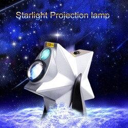 Novedad estrellas populares cielo crepúsculo lámpara de proyector de luz nocturna LUZ DE Láser LED ambiente parpadeante regulable dormitorio de Navidad