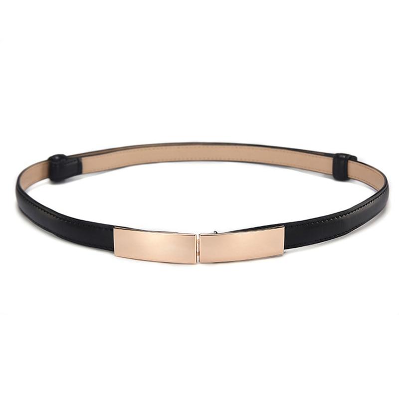 Elastic Women Belts Strap Thin Skinny Ladies Dress Waist Belt Leather Gold Buckle Female Red Belts ceinture femme pasek damski 6