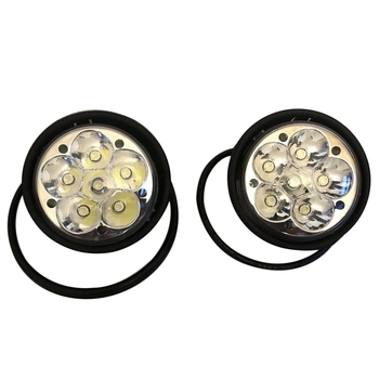 1 Pair Car Headlights Lamp 18W 1020LM LED Fog Lights Spotlight for Freightliner Columbia 2005-2010 A06-32497000