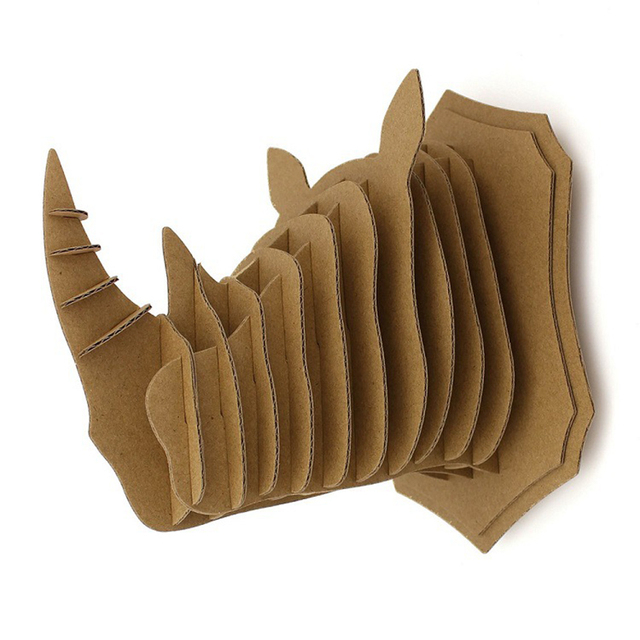 DIY Corrugated Paper Wall Hanging Animals Jigsaw European Wall Decoration Antique Creative Wall Pendant Christmas Goods 5