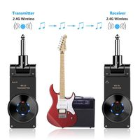Rowin WS 20 2.4G Wireless Guitar System Rechargeable Lithium Battery Transmitter Receiver 30 Meters Transmission Range 3 colors