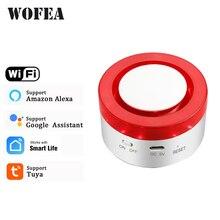 WiFi Smart Strobe Siren Work With Tuya Door Sensor PIR Water Detecter Compatible W Alexa Google Home Tuyasmart Smartlife APP