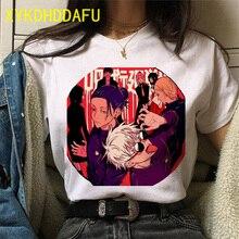 New Jujutsu Kaisen T Shirt Cartoon Japanese Kawaii Women Summer Anime Gothic Aesthetic Tshirt Funny Yuji Itadori Short Top Tee