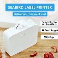 SEABIRD Карманный Мини Портативный Bluetooth принтер этикеток термальный принтер этикеток быстрая печать для домашнего использования офисный при...