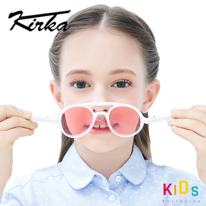 Image 2 - ยืดหยุ่นแว่นตากันแดดเด็กPolarizedเด็กPilotแว่นตาTR90 UV400สำหรับ7 12ปีเด็กหญิงเด็กแว่นตาเด็ก