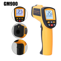 GM900 Non contact Electronic Temperature Meter Digital Pyrometer IR Infrared Thermometer LCD Gun Style Handheld Pyrometer