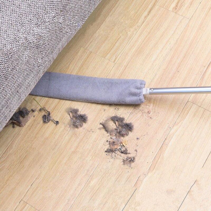Cepillo de polvo de mesita de noche mopa de mango largo Limpieza Hogar cama inferior Gap Limpieza de pelo de piel de barrido polvo mágico microfibra plumero