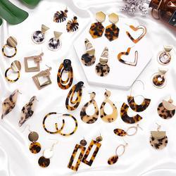 Bohemia Acrylic Resin Drop Earrings Women Leopard Print Round Dangle Earrings Boho Fashion Female Jewelry Earrings 2020