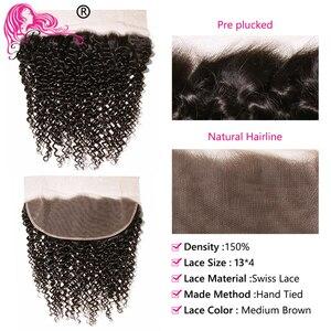 Image 3 - יופי לנצח מלזי מתולתל שיער טבעי Weave חבילות עם 13*4 תחרה פרונטאלית סגירת משלוח חלק רמי סגירה