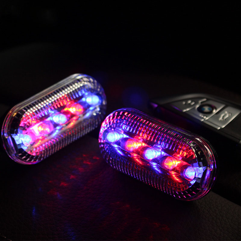 Waterproof Bicycle Strobe Lights Taillight Bicycle Safety Warning LED Light Shoulder Clamp Red And Blue Strobe Shoulder Lights