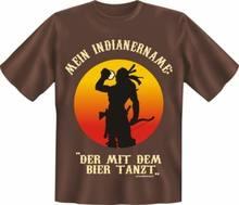 T-shirt imprimé amusant, Sexy, Nom bière Indien, Cadeau, DAnniversaire