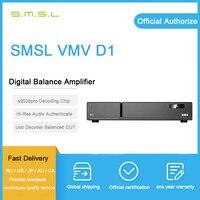 SMSL VMV D1 usb audio dac wzmacniacz es9038 pro xmos usb odtwarzacz muzyczny hifi audio usb dekoder dsd cyfrowy zrównoważony dekoder amp w Konwerter sygnału cyfrowego do analogowego od Elektronika użytkowa na