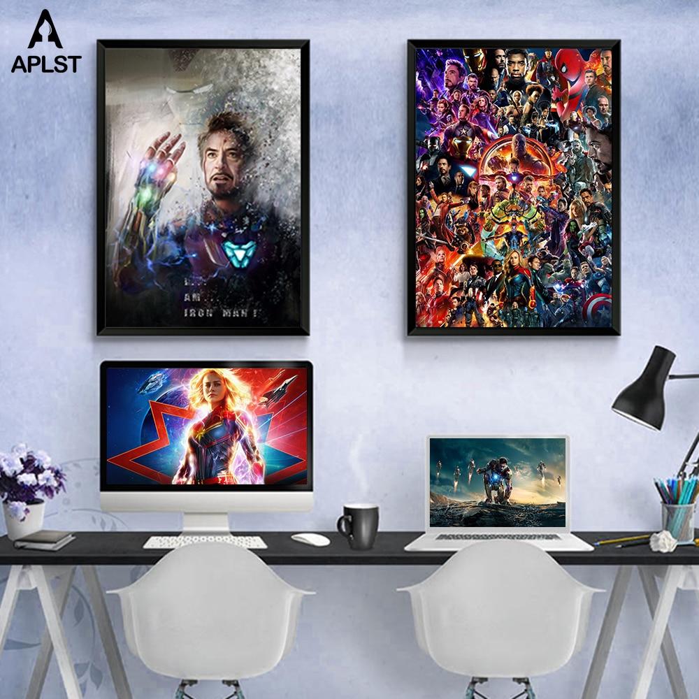 Мстители эндшпиль я Железный человек супергерой холст живопись плакаты и принты спальня квартира картины художественный Декор для гостиной