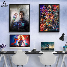 Avengers Endgame I Am Iron Man Superhero Canvas Painting Posters and Prints Bedroom Apartment Pictures Art Decor for Living Room(China)
