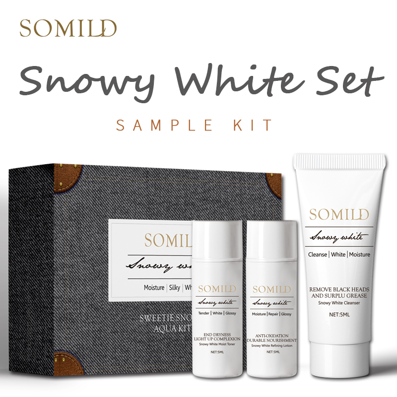 SOMILD Whitening Skin Care Set Travel Suit Moisturizing Face Cream Blackhead Remove Cleanser Facial Serum Whiten Korea Cosmetics