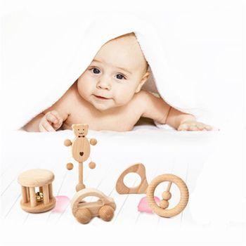 Bez farby pielęgnacja drewniane gryzaki drewniane grzechotki zabawki dla niemowląt Puzzle zabawki noworodek niemowlę prezent tanie i dobre opinie Drewna Unisex Nursing Wooden Teether Rattles Baby Toy 0-12 miesięcy 13-24 miesięcy 3 lat Zestawy Musical 14*4*2cm