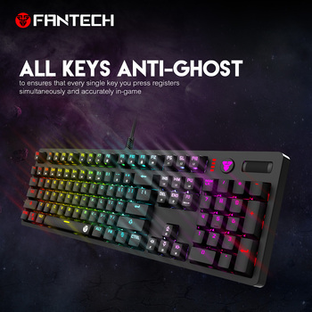Fantech MK851 Gaming Keyboard 104 Keys English RGB Backlit Keyboard Blue And Borwn All Buttons Have No Conflicts Keyboard Gamer