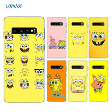 Cute Cartoon Spongebob Soft TPU Case For Samsung Galaxy S8 S9 J4 J6 A8 A6 Plus + J8 A7 A9 2018 Note 9 8 S6 S7 Edge Shell Cover