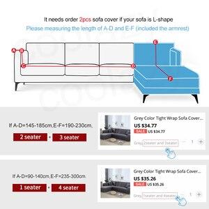Image 2 - เรขาคณิตโซฟาชุดผ้าฝ้ายที่นอนยืดหยุ่นสำหรับห้องนั่งเล่นสั่งซื้อ 2 ชิ้นถ้าL chaise Longueโซฟา