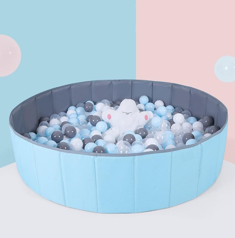 Детский манеж, детский безопасный Барьерный бассейн с шариками, складной сухой бассейн для младенцев, шарики для океана, игрушки для детей, ...