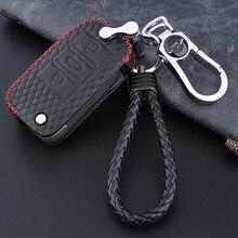 Верхний слой кожи личи шаблон автомобиля защитный чехол для ключа Крышка для MG MG3 MG5 MG6 MG7 GT GS ZS EV HS для Roewe 350 360 750W5
