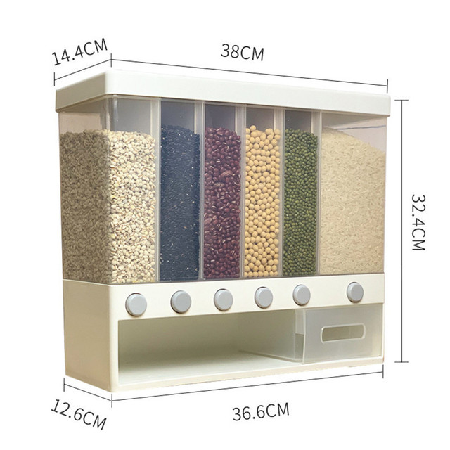 Wall-mounted dry food dispenser 5
