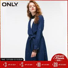 ONLY Autumn Women loose long Denim Belted cowboy trench coat | 118354521