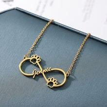 Ожерелье с кулоном бесконечным именем для женщин индивидуальное