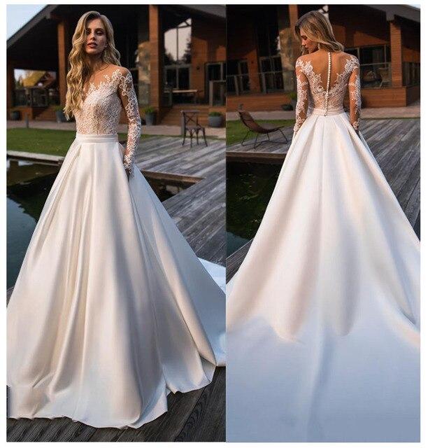 robe de mariee satin wedding dress платье wedding party Dress vestido novia Robe De Soiree свадебные платья bride to be 2