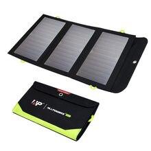 Allpowers 5v 21w construído-no carregador solar portátil da bateria 10000mah para o telefone móvel