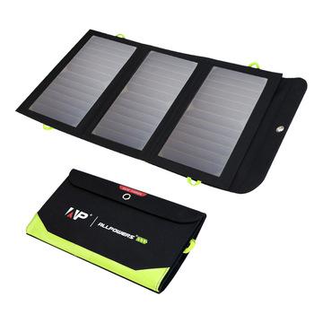 ALLPOWERS 5V 21W wbudowana bateria 10000mAh przenośna ładowarka solarna do telefonu komórkowego tanie i dobre opinie CN (pochodzenie) Ogniwa słoneczne Fold Size 340mm x 180mm x 20mm 13 38x7 0x0 79inch AP-SP-002-BLA-NEW 1 battery and 3 solar panels