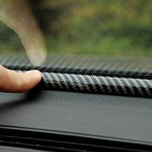 Para bmw e90 e60 x5 e70 sx4 Cx-5 civic f150 chr acessórios do carro de carbono universal à prova de som vedação borracha painel tira