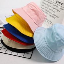 Summer Foldable Bucket Hat Unisex Women Outdoor Sunscreen Cotton Fishing Hunting Cap Men Basin Chapeau Sun Prevent Hats