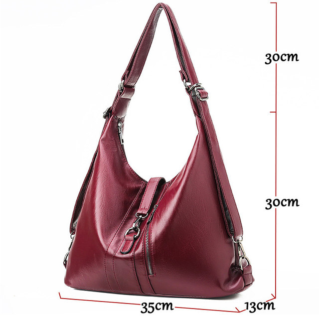 Women Leather Handbags High Quality 2019 Ladies Hobo Hand Bag Female Soft Leather Shoulder Bag Vintage Bags For Girls Sac A Main
