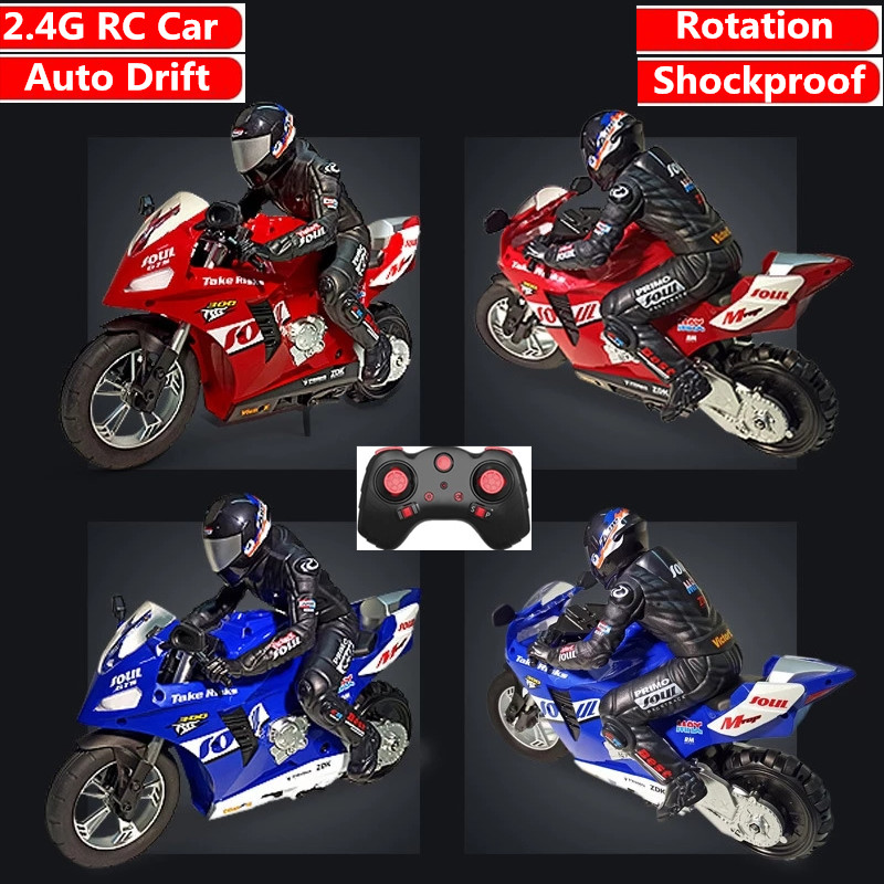 RC stunt motorcycl 3D Rotation Flips 2.4G Remote Control stunt motorbike High Speed Racing drift Car Shockproof Auto Balance Toy