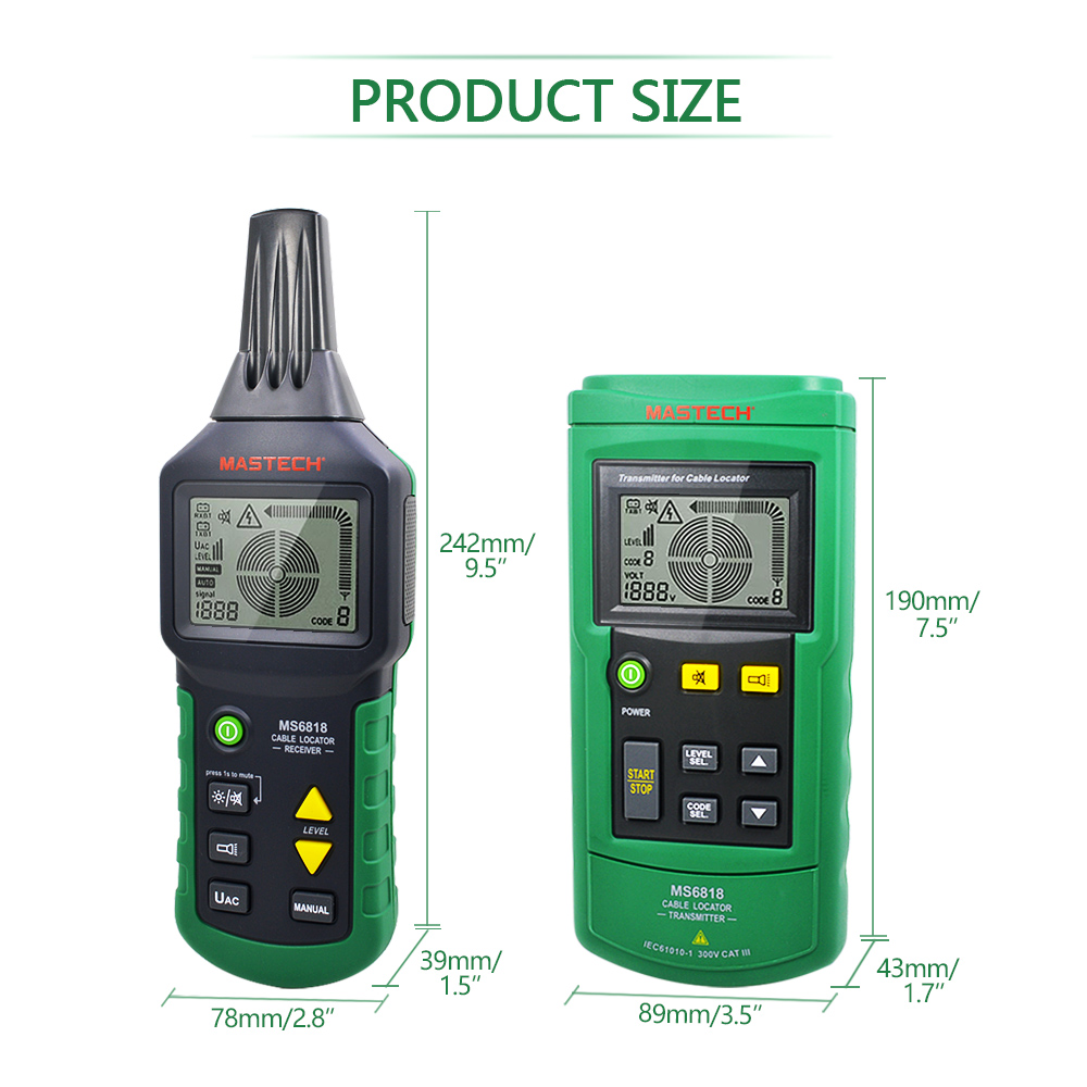 Image 2 - Mastech MS6818 LAN Network Cable Tester Phone Telephone Wire Tracker Pipe Locator Detector for Cat5 Cat5E Cat6 Cat6E RJ45 RJ11Networking Tools   -