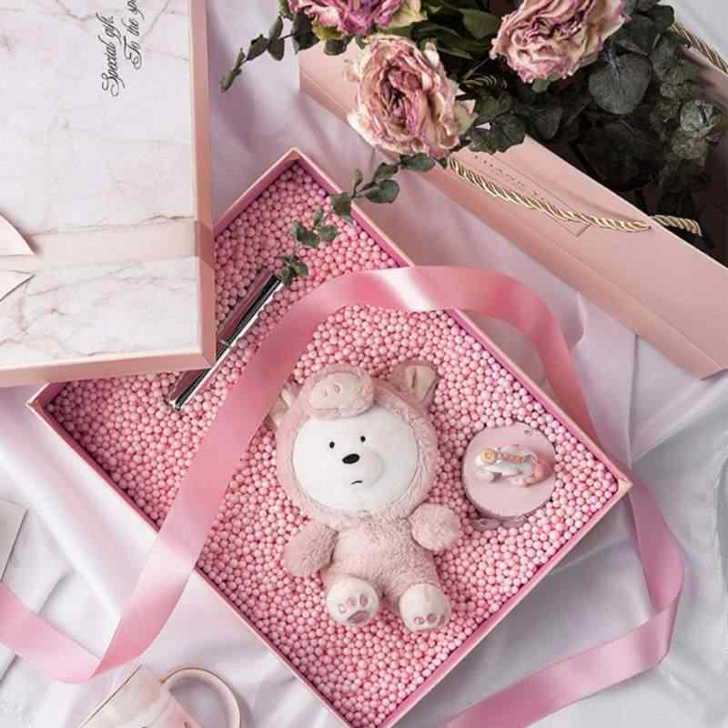 1 แพ็ค 4-6 มม.สีสันของขวัญกล่องโฟมลูกบอลตกแต่งลูกปัดอุปกรณ์เสริมสำหรับงานแต่งงานวันเกิด DIY หัตถกรรมกล่องใส่ของขวัญ